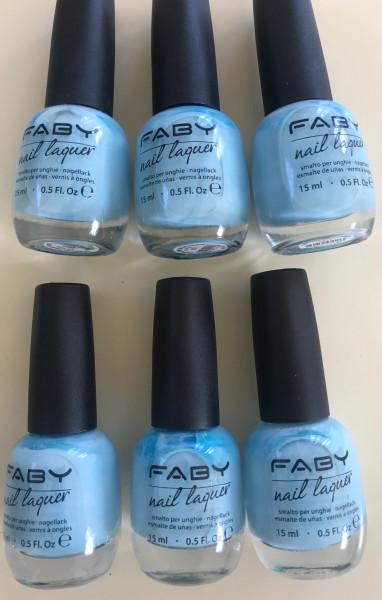 """FABY Nagellack """"Eisblau"""", 15ml"""
