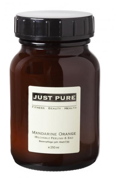 Mandarine Orange Milchsalzbad - BASISCH (ph-Wert 7,5)