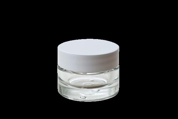 Glastiegel für 15ml Cremes, ungefüllt