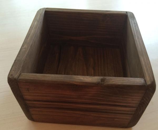 Große Holzbox handgefertigt, massiv - Altholz